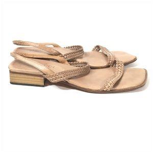 Sesto Meucci Shoes - Sesto Meucci Tan Woven Braided Leather Sandals 6.5